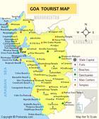 Tourism map of Goa