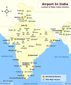 Location of Airports in India
