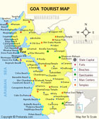 Tourism map of Goa