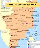 Tourism map of Tamil Nadu